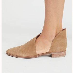 Free People 'Royale' Pointy Toe Flat Beige Suede